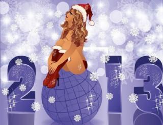 2013圣诞女郎图片