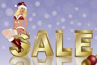 销售圣诞女郎图片