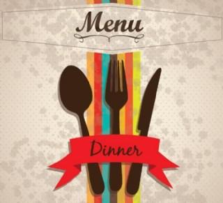 西餐菜單矢量素材圖片
