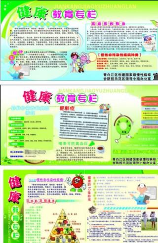 慢性病健康教育宣传栏图片