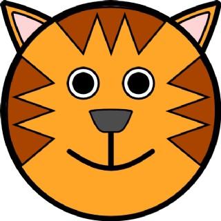 老虎的脸夹艺术