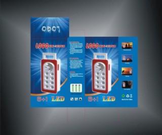 藍光手電筒包裝盒圖片