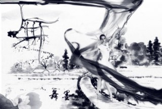 中国风水墨舞女